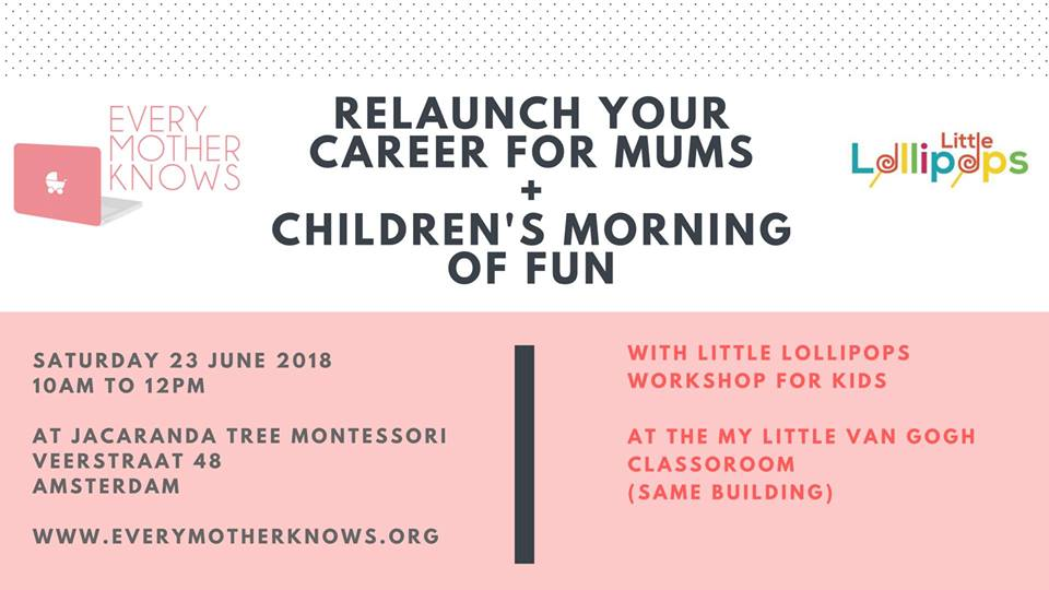 relaunch your career for mums event