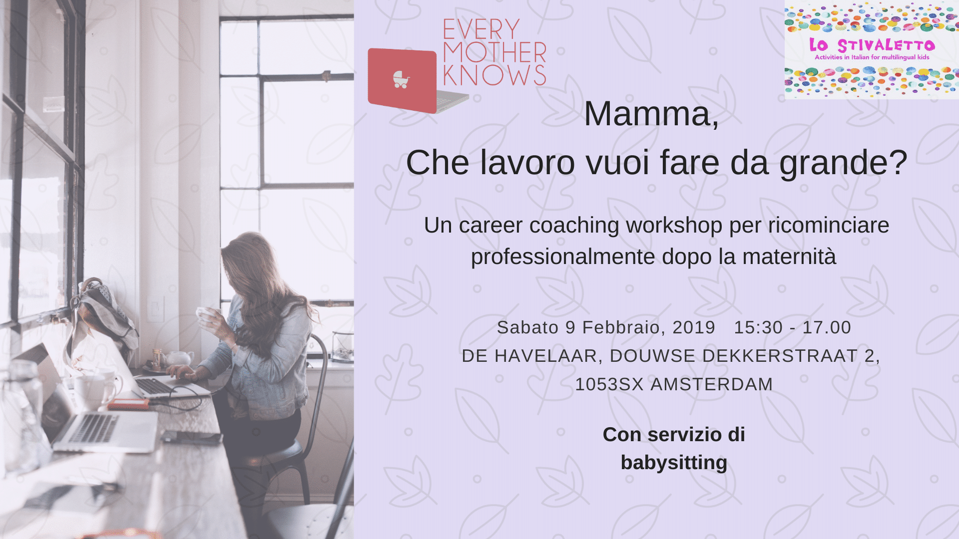 Workshop for Italian mums in Amsterdam
